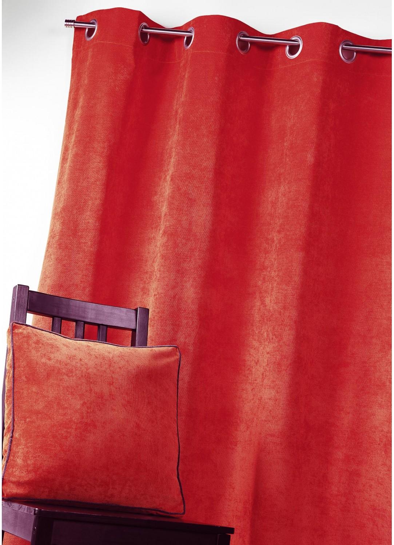 Rideau en Velours Uni (Rouge)