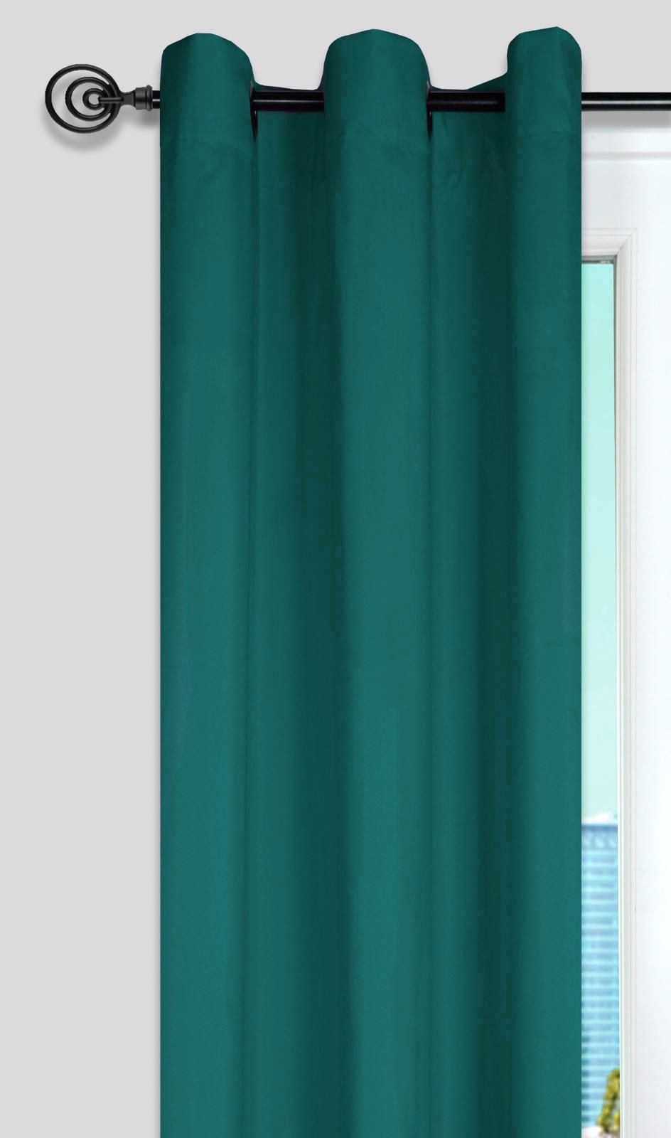 Rideau Uni aux Multiples Couleurs (Bleu Canard)