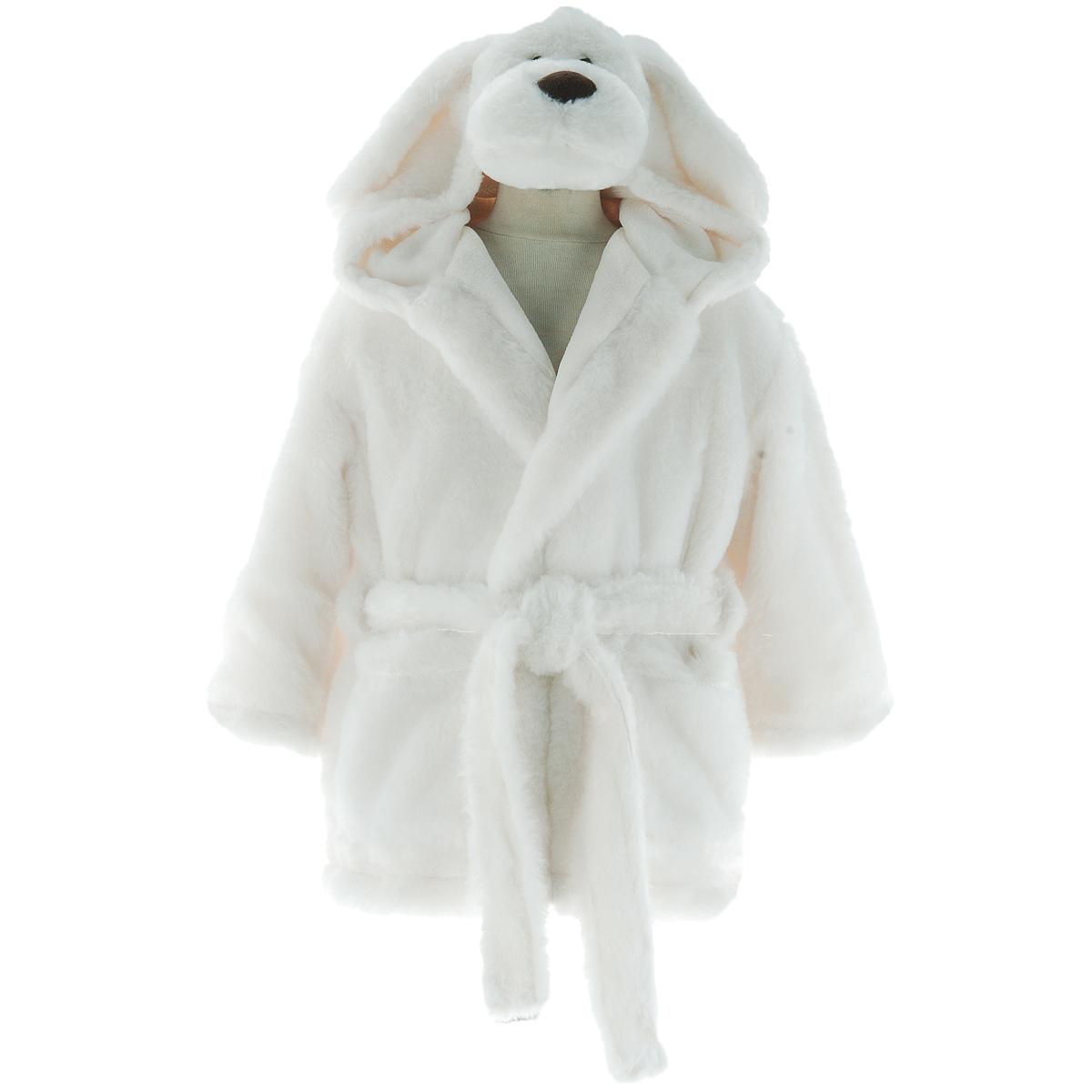 peignoir enfant polaire t te de toutou blanc cass homemaison vente en ligne peignoirs. Black Bedroom Furniture Sets. Home Design Ideas