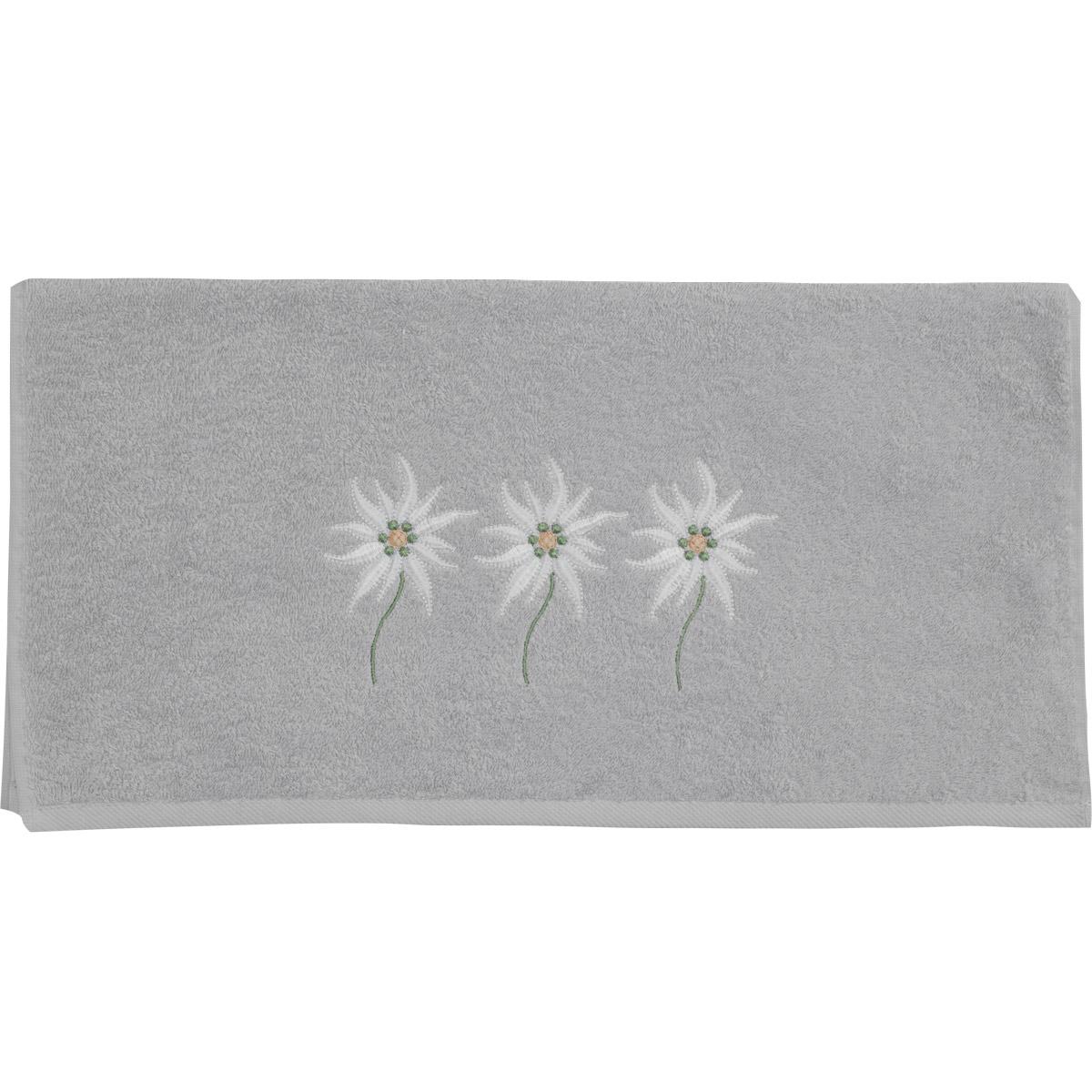 serviette de toilette brod e fleurs toil es glacier petrol homemaison vente en ligne. Black Bedroom Furniture Sets. Home Design Ideas