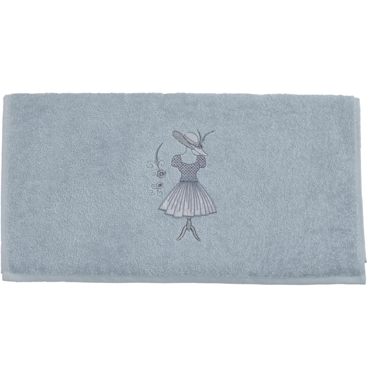 serviette de toilette brod e haute couture arctic blanc homemaison vente en ligne. Black Bedroom Furniture Sets. Home Design Ideas