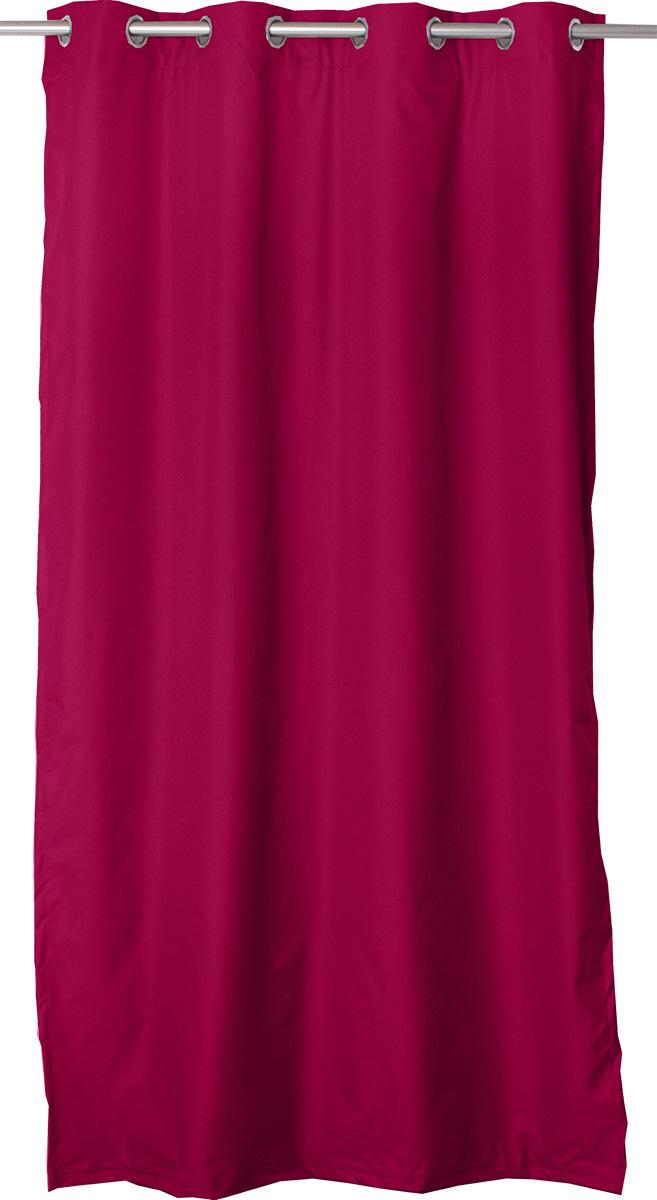 Rideau Thermique et Occultant avec Doublure Amovible - Rouge - 140 x 240 cm
