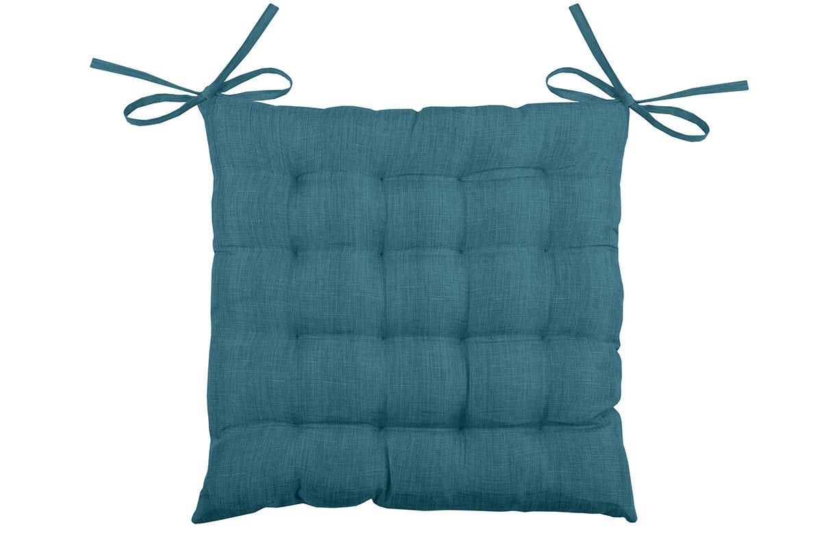 Galette de Chaise Unie en 16 Points (Turquoise)