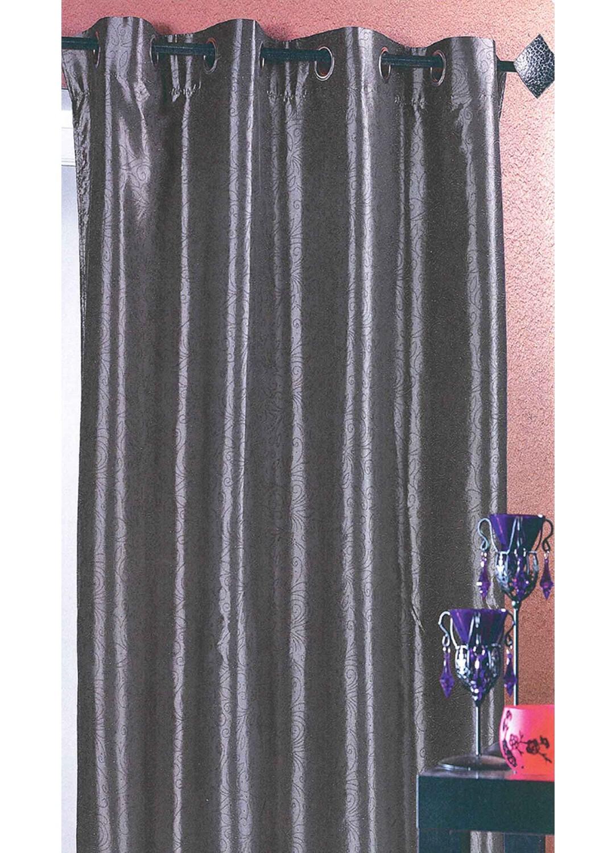 Rideau en Taffetas avec Impression Métal (Noir)