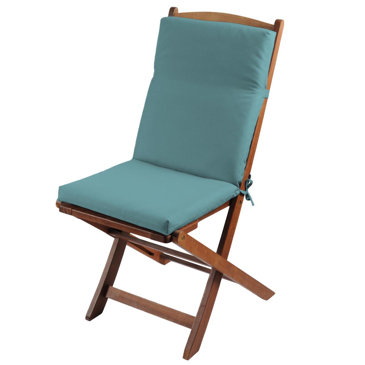 Coussin de fauteuil outdoor coloré - Bleu - 40 x 90 cm