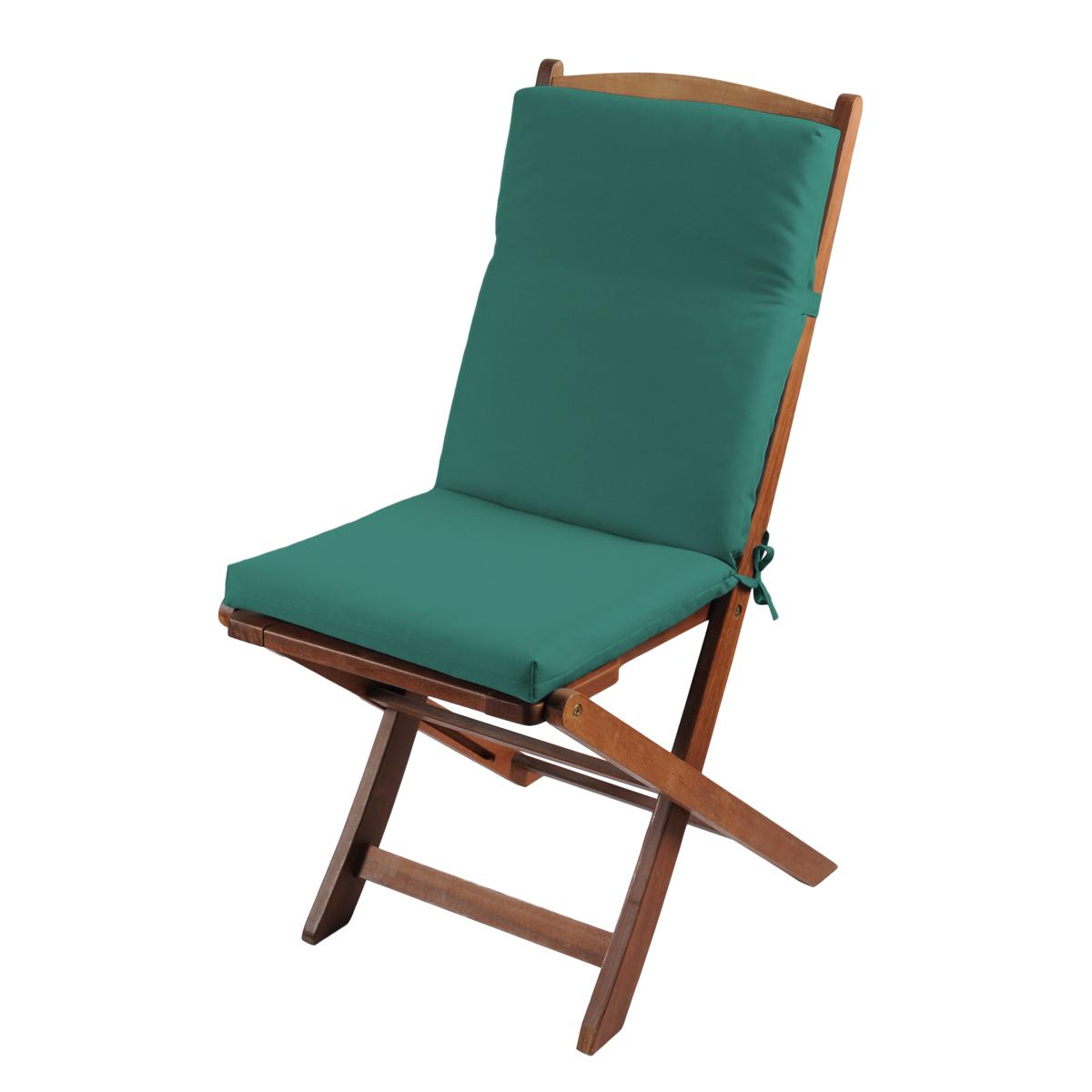 Coussin de fauteuil outdoor coloré - Vert - 40 x 90 cm