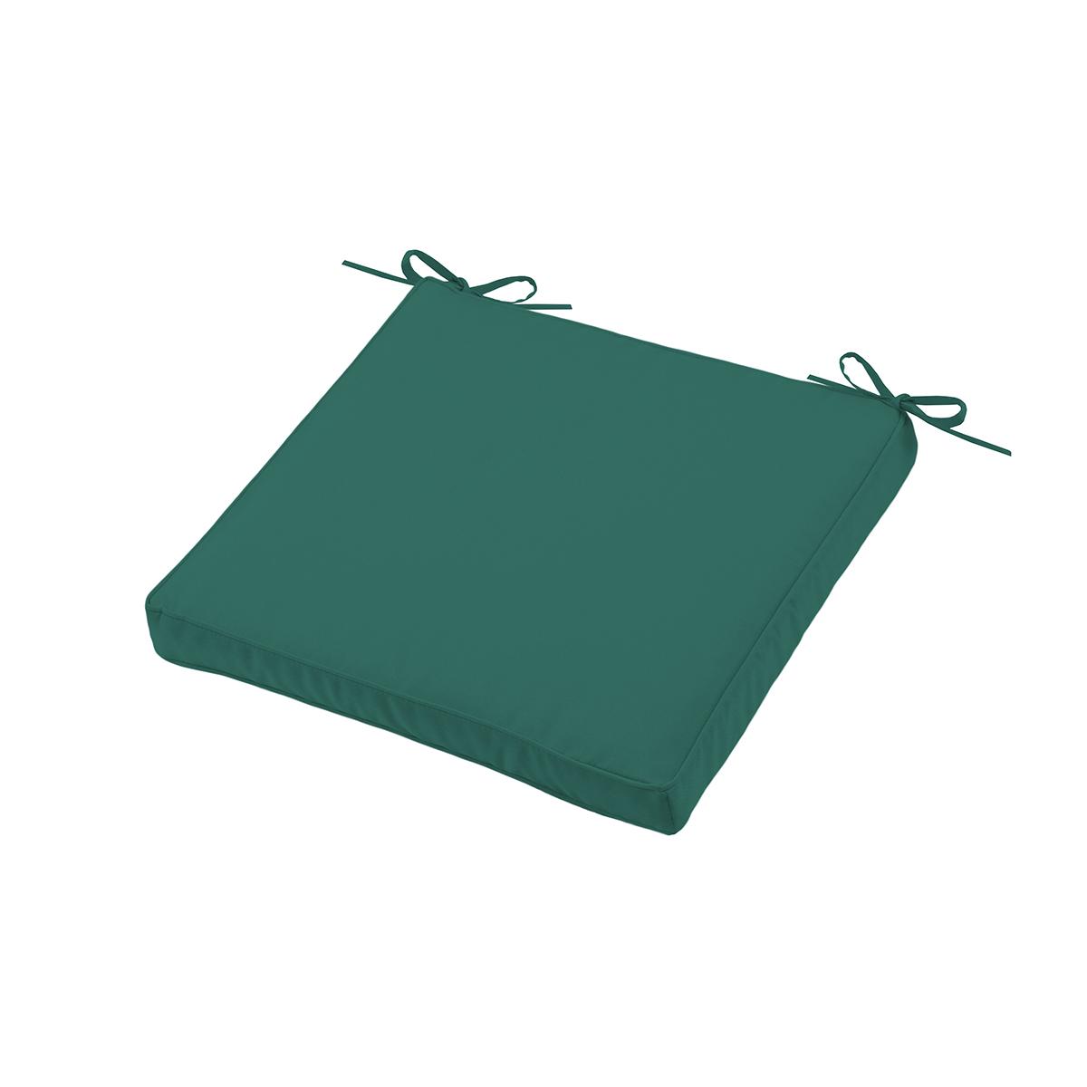 Galette de chaise épaisse outdoor colorée - Vert - 40 x 40 x 5 cm