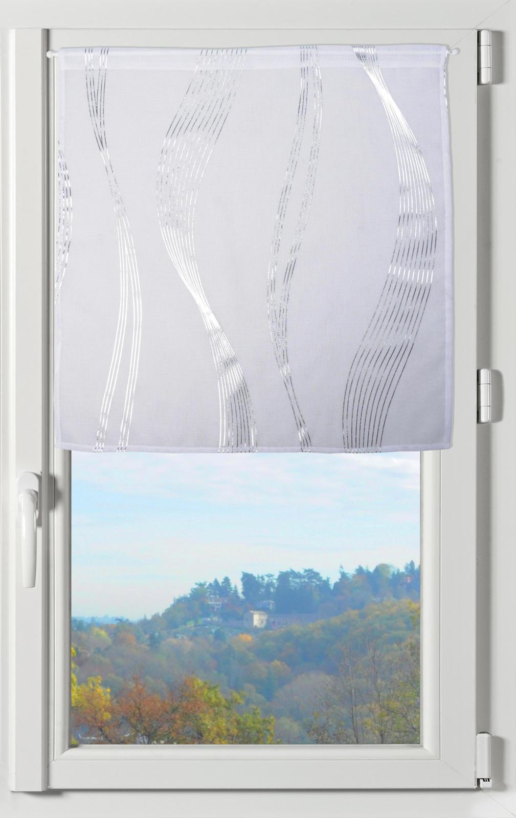 paire de brise bise avec rayures ondulantes blanc homemaison vente en ligne voilages brise. Black Bedroom Furniture Sets. Home Design Ideas