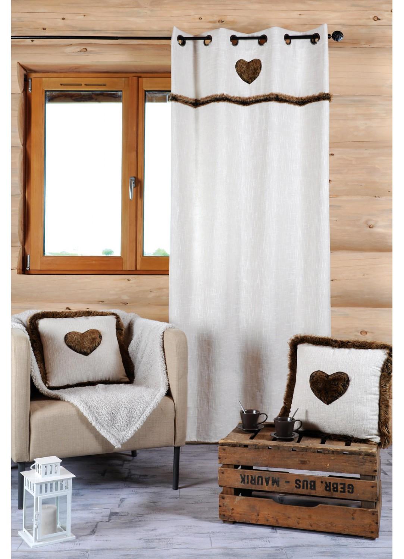Accueil rideaux rideaux rideau avec fausse fourrure gris - Couleur rideau avec mur gris ...