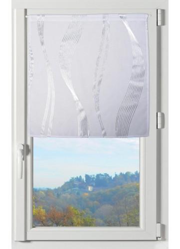 Paire de Brise Bise avec Rayures Ondulantes - Blanc - 60 x 90 cm