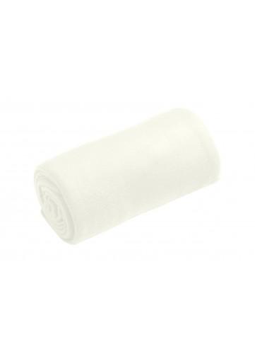 Plaid Douceur Uni - blanc cassé - 130 x 160 cm