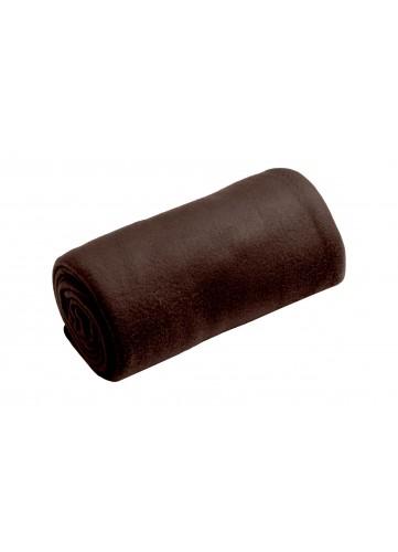 Plaid Douceur Uni - Chocolat - 130 x 160 cm