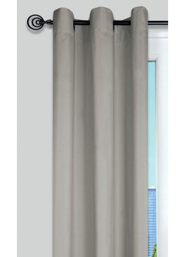 Rideau Uni aux Multiples Couleurs - Lin - 135 x 240 cm