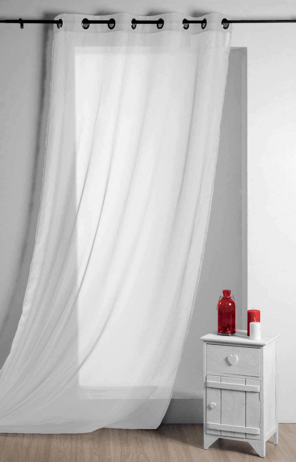Voilage Uni Léger (Blanc)