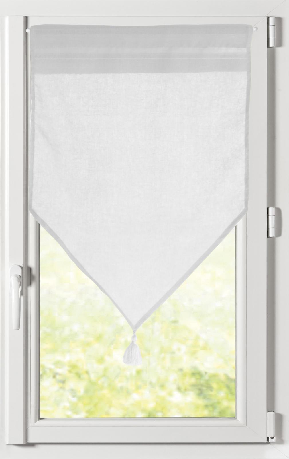Paire de Brise Bise Unie avec 16 Coloris (Blanc)