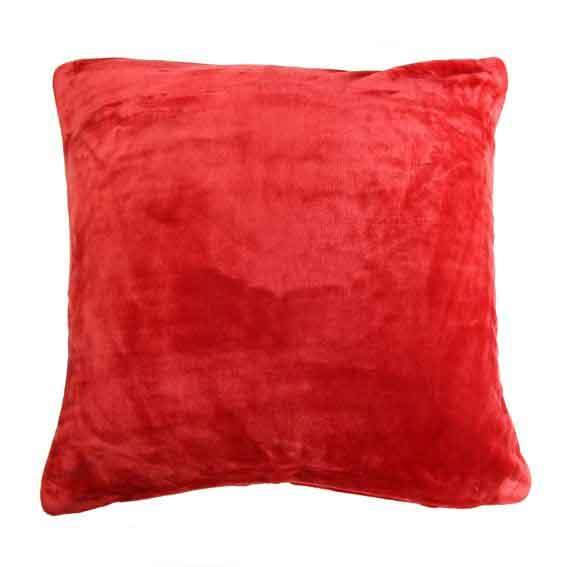 Housse de Coussin Douceur - Rouge - 40 x 40 cm