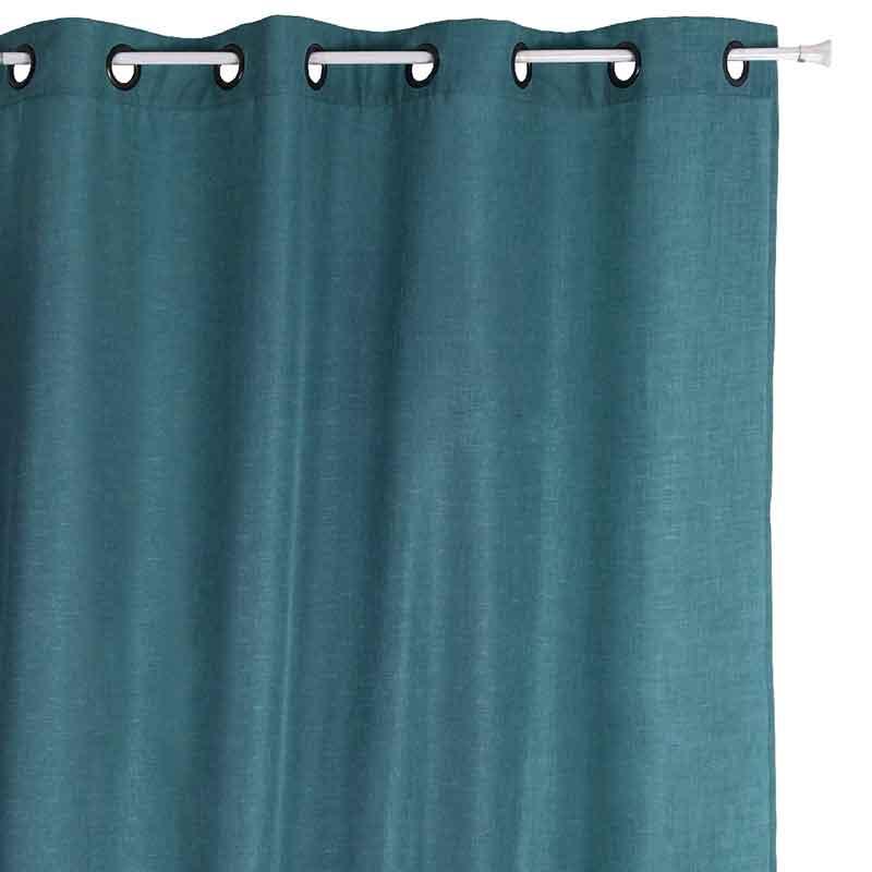 Rideau avec Effet Satiné - Turquoise - 135 x 260 cm