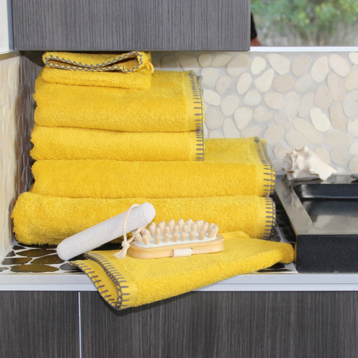 Serviette de bain grand hôtel (curry)