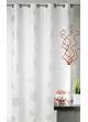 Rideau d'ameublement imprimés motifs Argent  Blanc