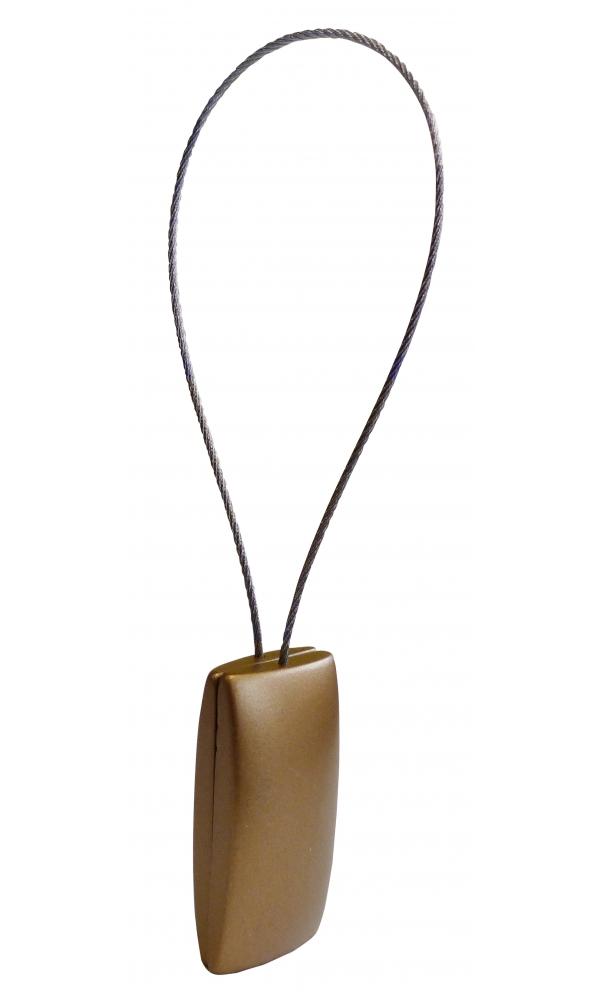 Embrasse clip rectangulaire nacrée (Bronze)