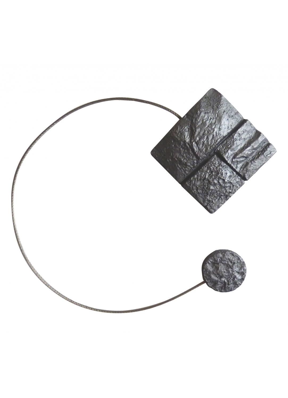 Embrasse aimantée effet pierre (Anthracite)