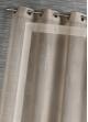 Voilage en Etamine Impression Argent  Taupe