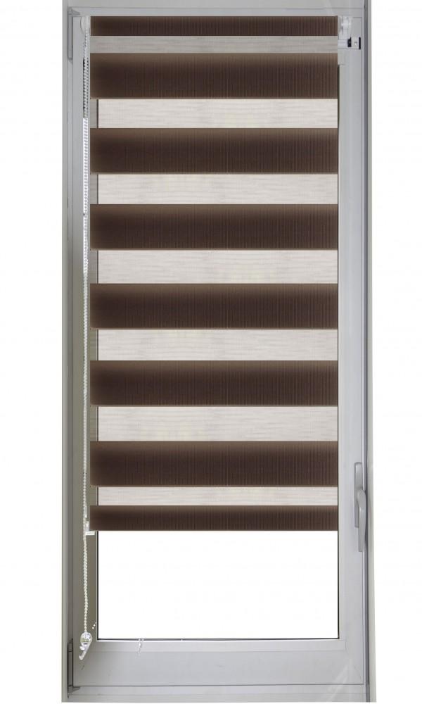 Store enrouleur jour/nuit - Chocolat - 52 x 170 cm