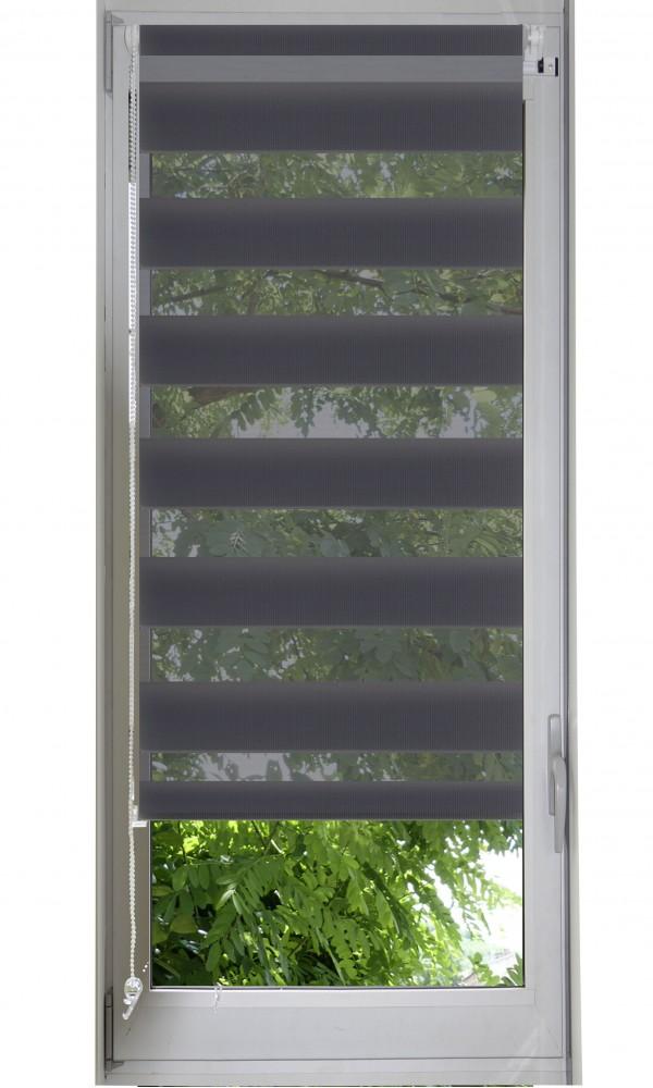 Store enrouleur jour/nuit - Anthracite - 62 x 170 cm