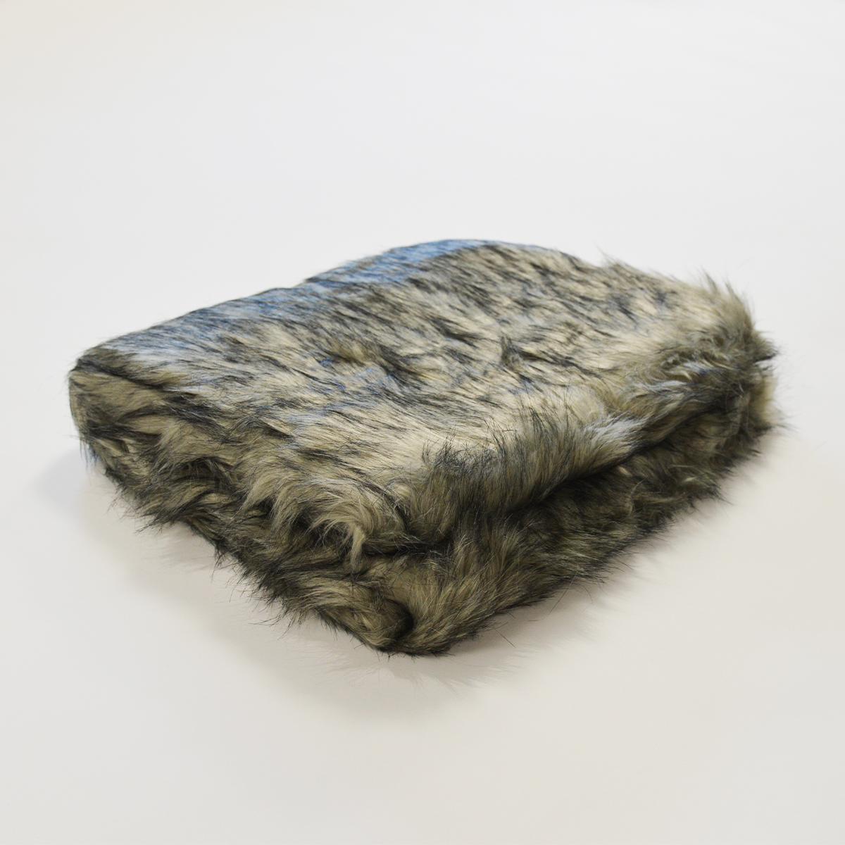 130 doux et moelleux pour lit ou canap/é 160cm bleu Plaid en fausse fourrure