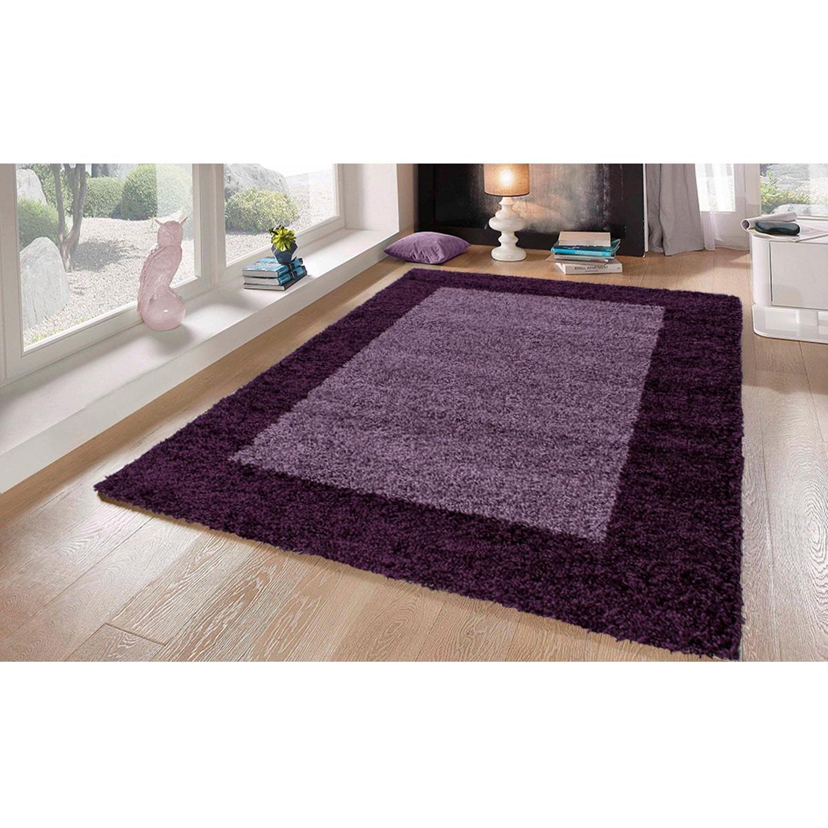Tapis déco en 2 tons - Violet - 160 x 230 cm