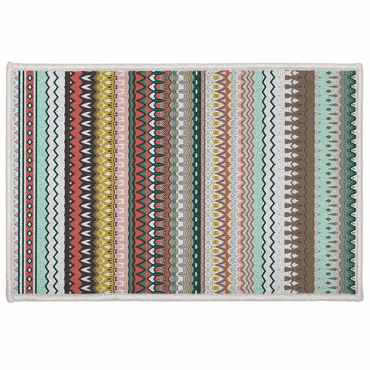 tapis d co rayures andalouses multicolore homemaison vente en ligne tapis d co. Black Bedroom Furniture Sets. Home Design Ideas