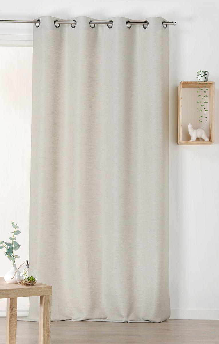 rideau d polluant et ecologique gris clair rose clair. Black Bedroom Furniture Sets. Home Design Ideas