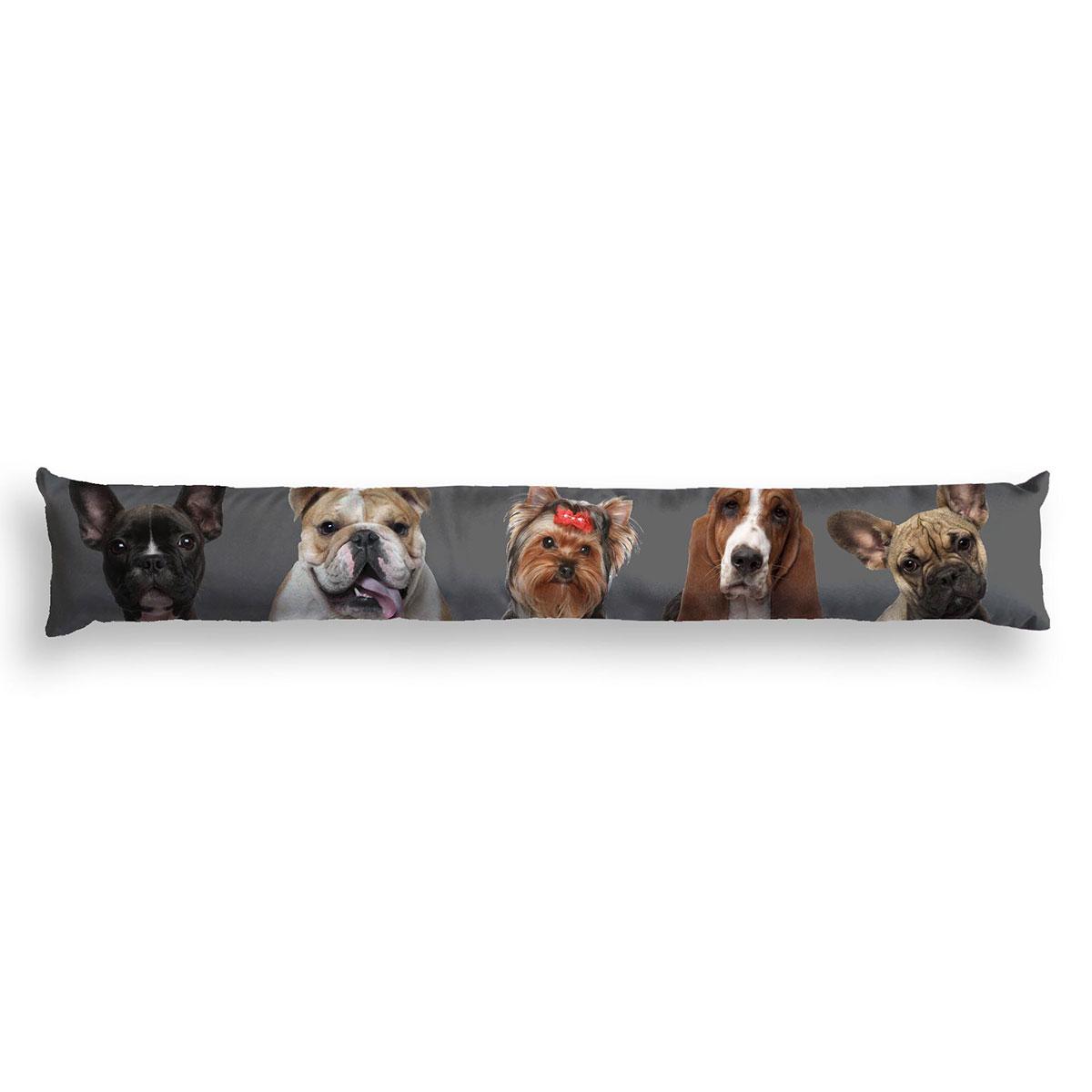 coussin bas de porte family dogs gris homemaison. Black Bedroom Furniture Sets. Home Design Ideas