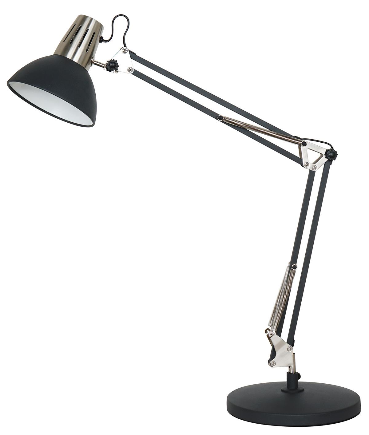 Lampe d'Architecte en Métal Sablé (Noir)