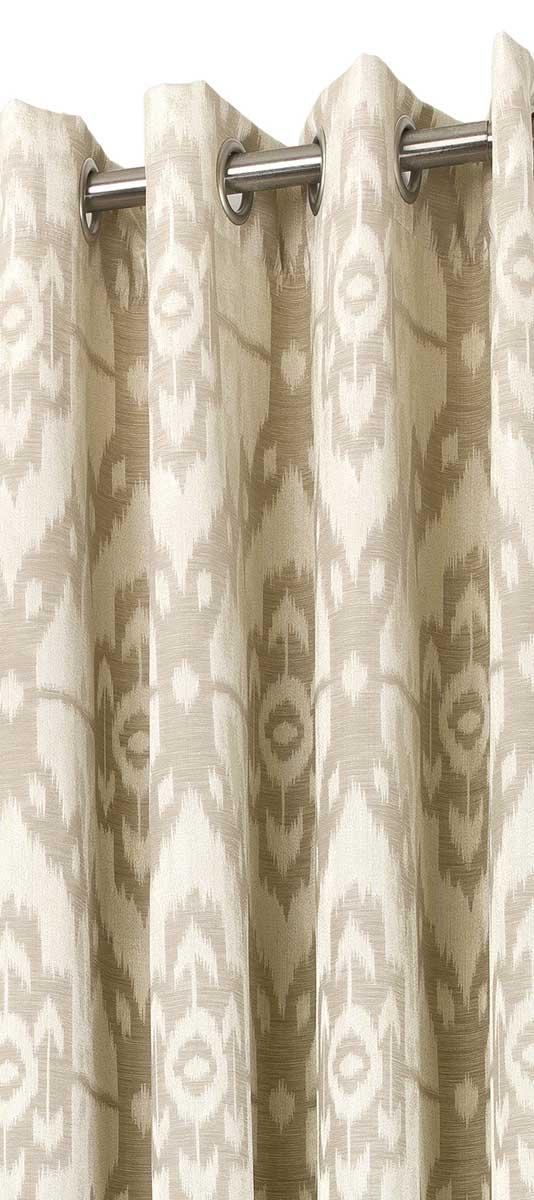 Rideau d'Ameublement Esprit Ethnique - Beige - 140 x 265 cm