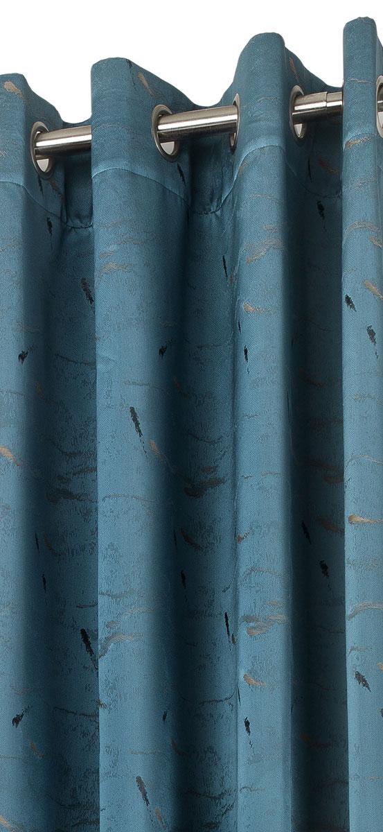 Rideau à Marbrures Colorées - emeraude - 140 x 280 cm