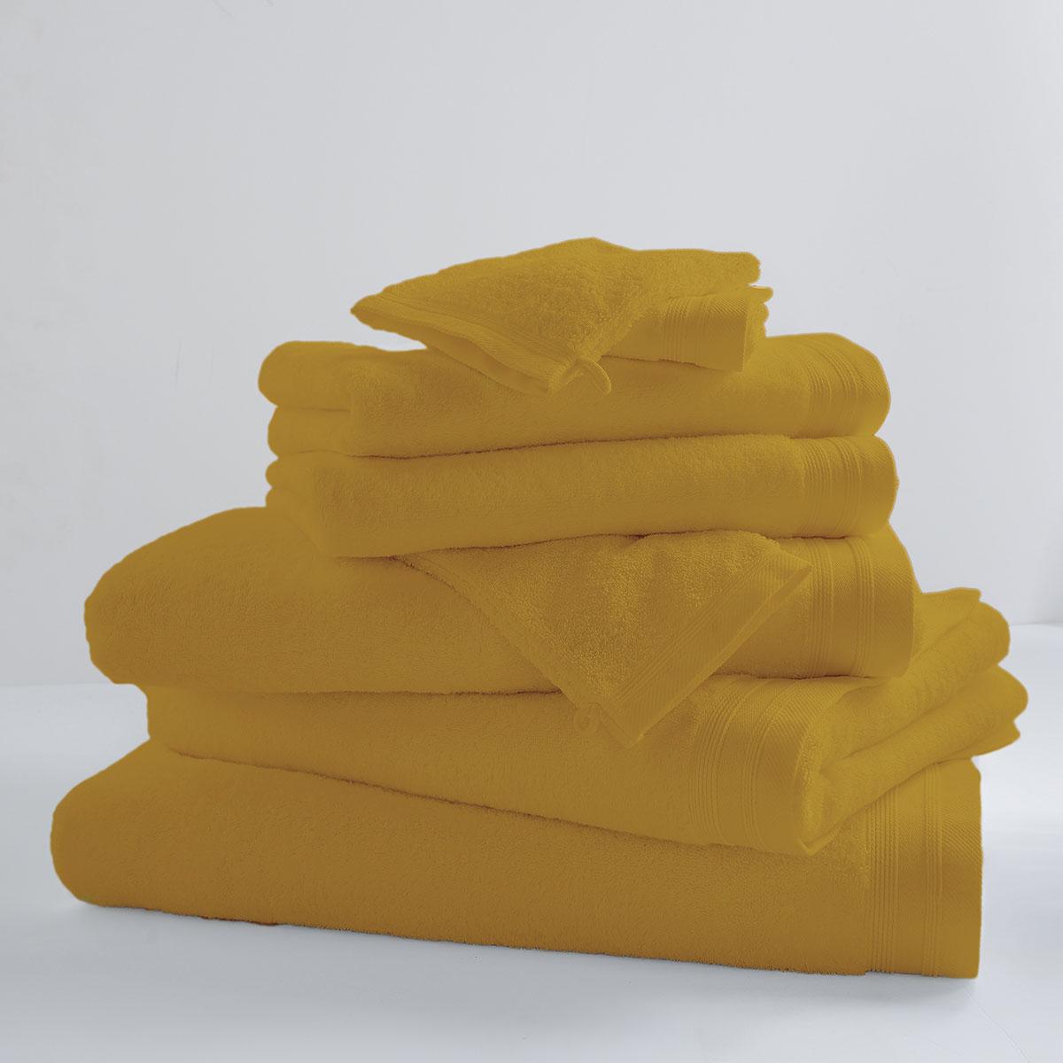 Drap De Douche Uni et Coloré (Banane)