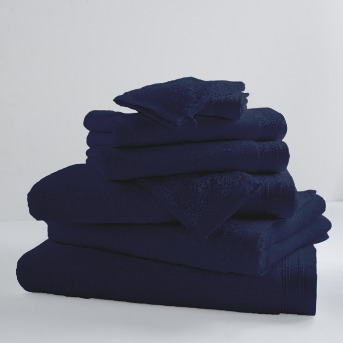 Lot de 2 Serviettes De Toilette Unies et Colorées (Blue Moon)