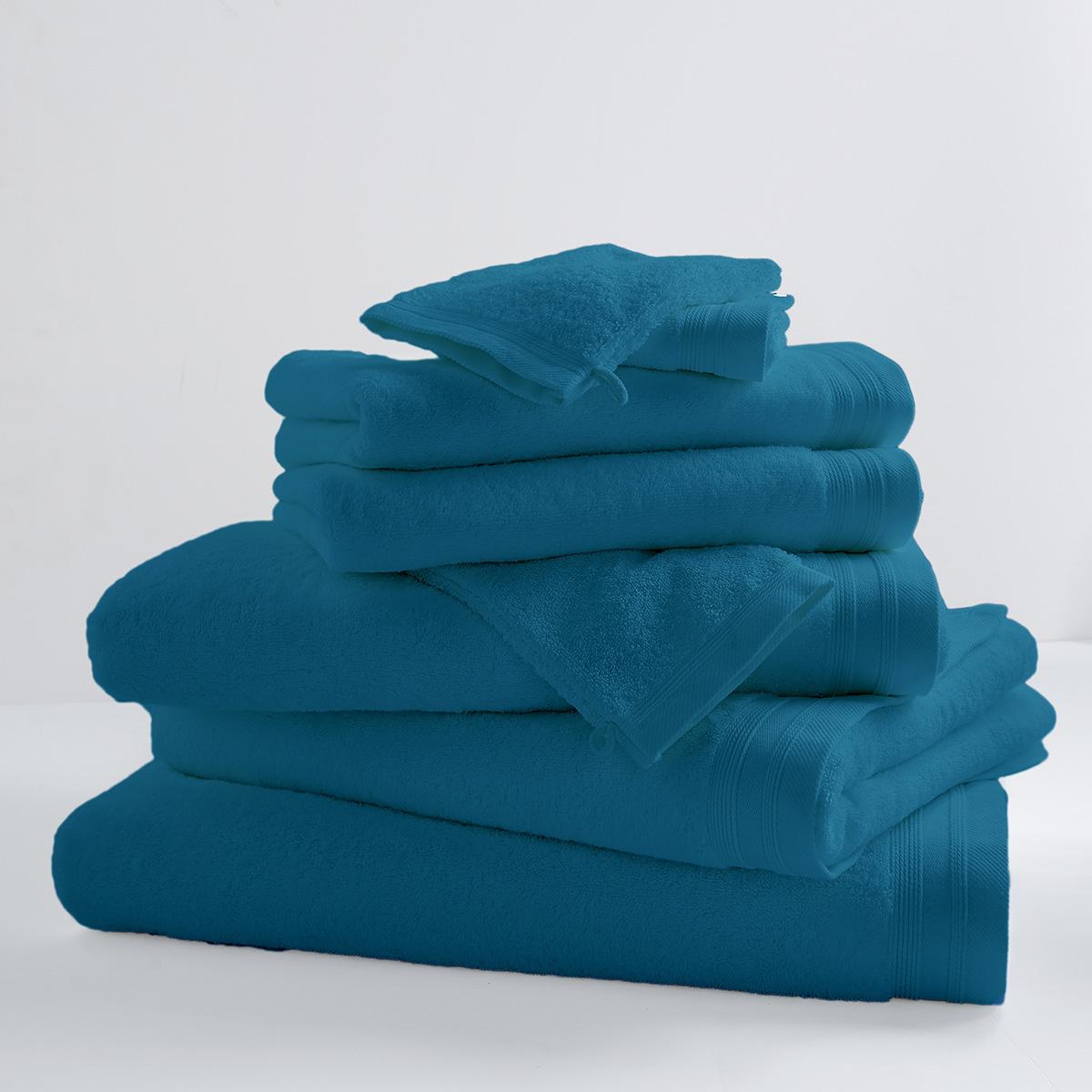 Drap De Douche Uni et Coloré (Turquoise)