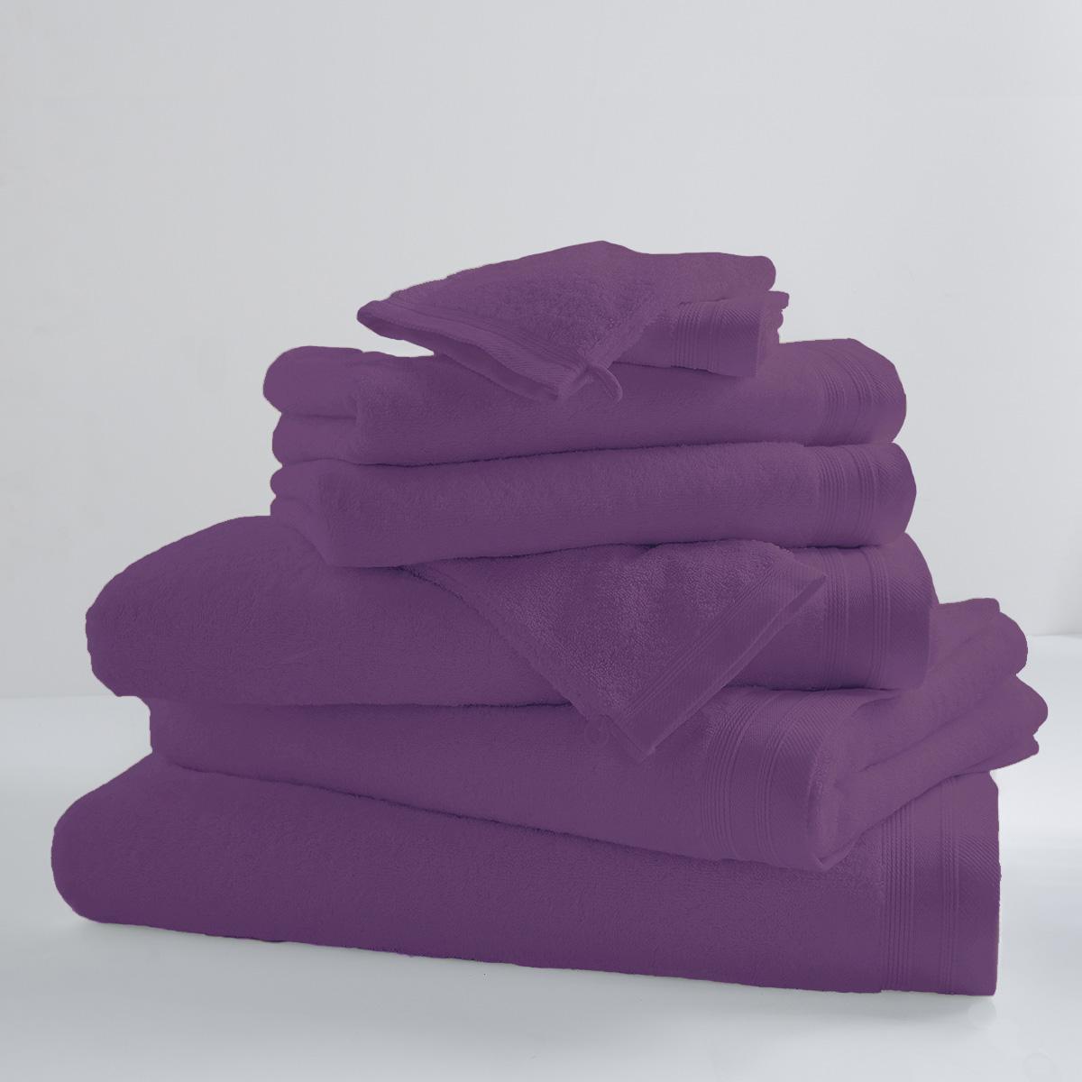 Drap De Bain Uni et Coloré (Violette)