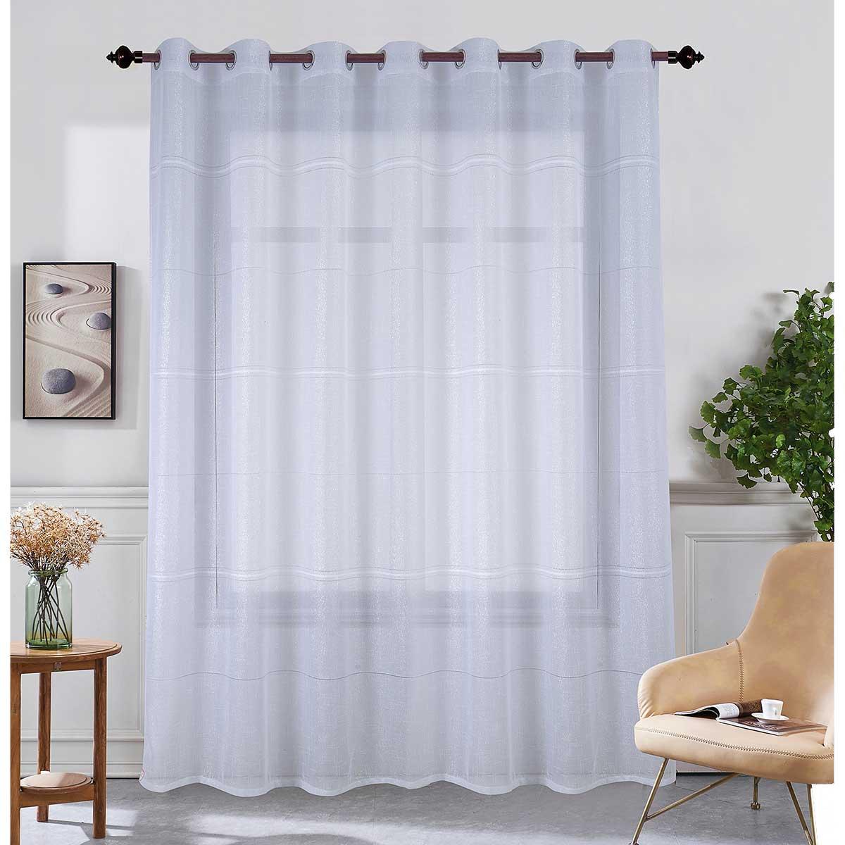 voilage grande largeur brillant blanc bordeaux gris. Black Bedroom Furniture Sets. Home Design Ideas