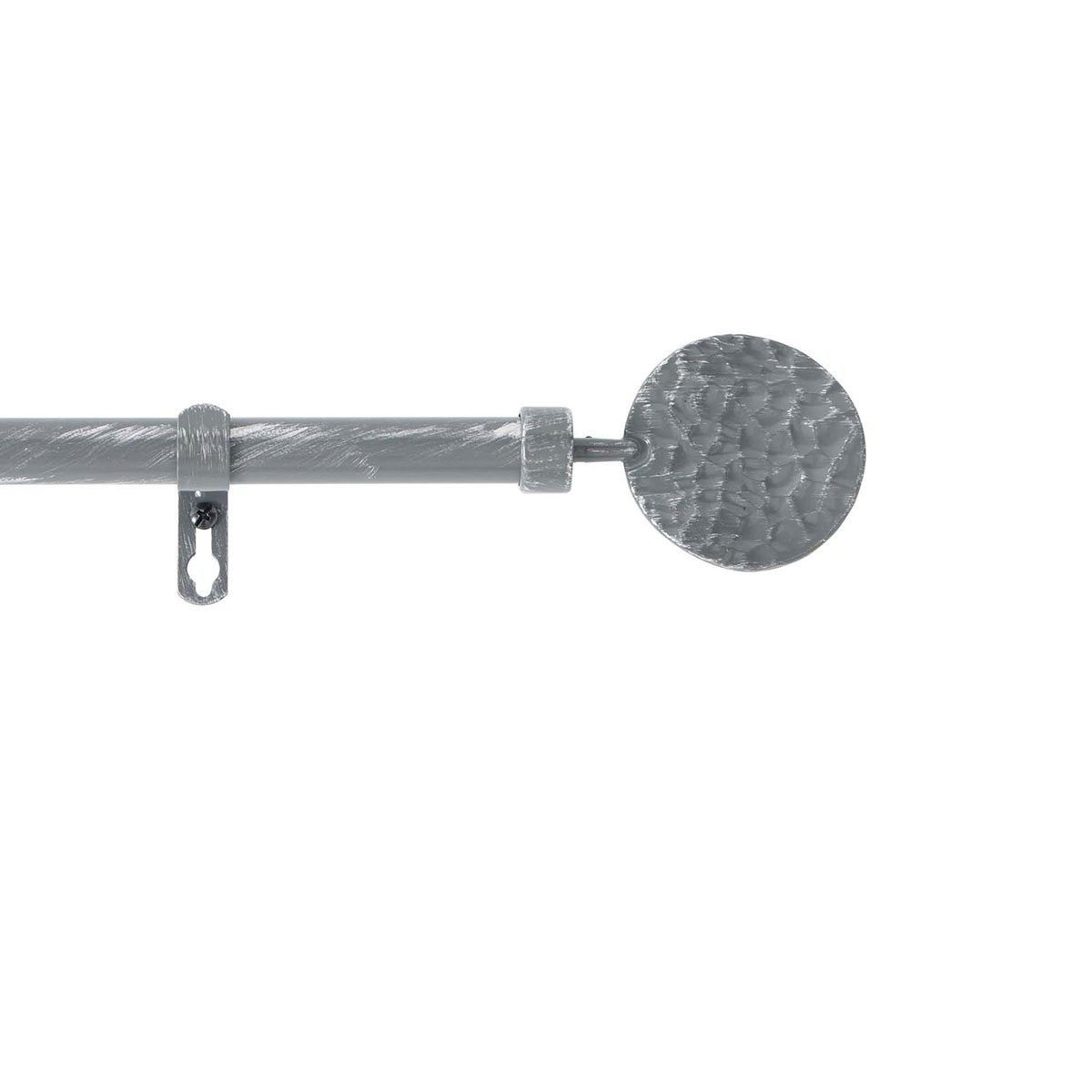Kit de tringle déco avec embouts ronds martelés (Gris)