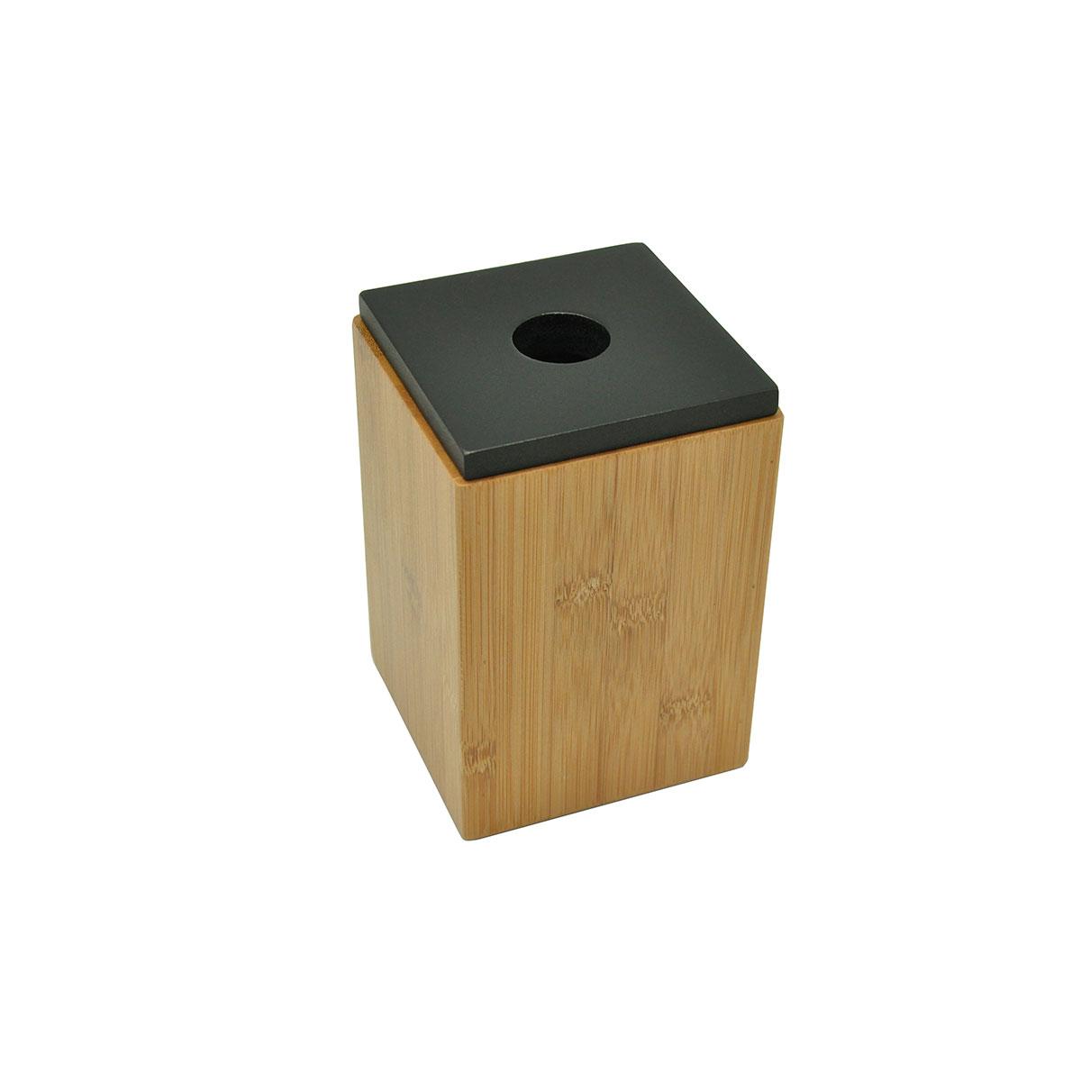 Boite avec couvercle en bambou (Bambou et Noir)