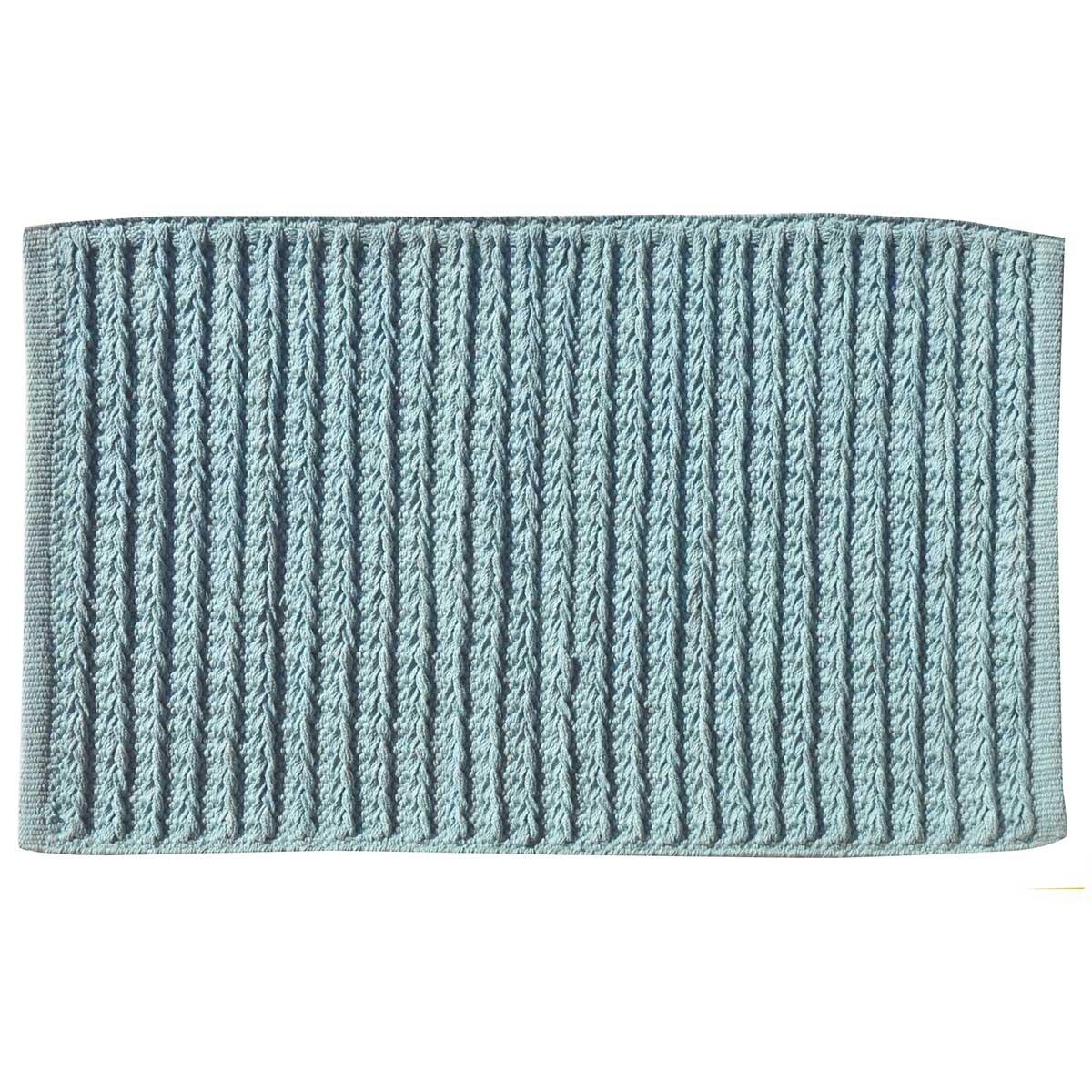 Tapis de bain effet maille (Bleu)
