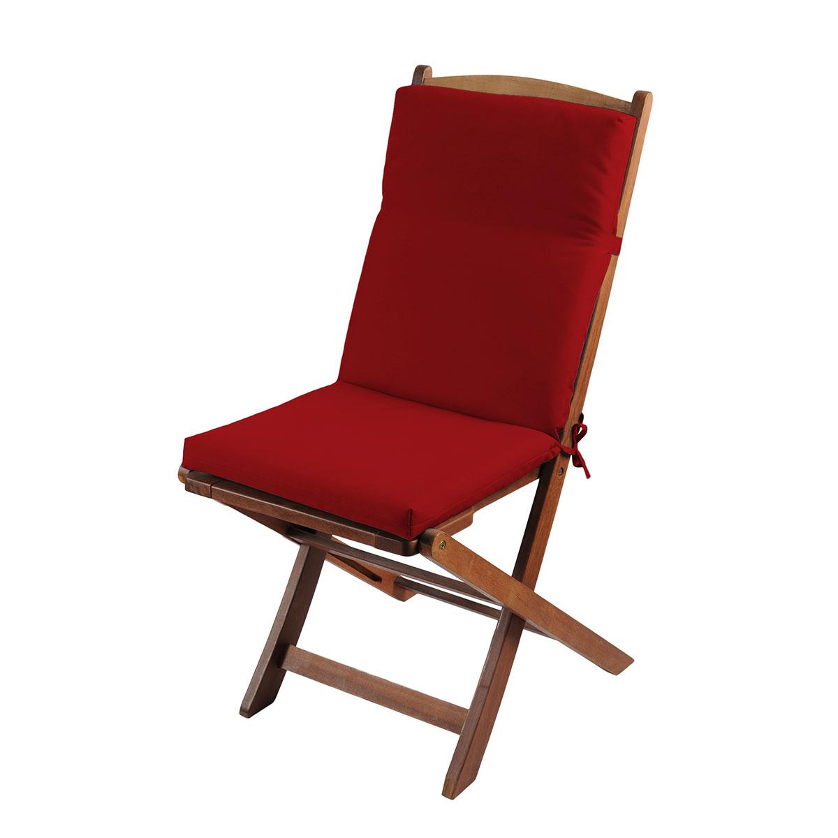 Coussin de fauteuil outdoor coloré - Rouge - 40 x 90 cm