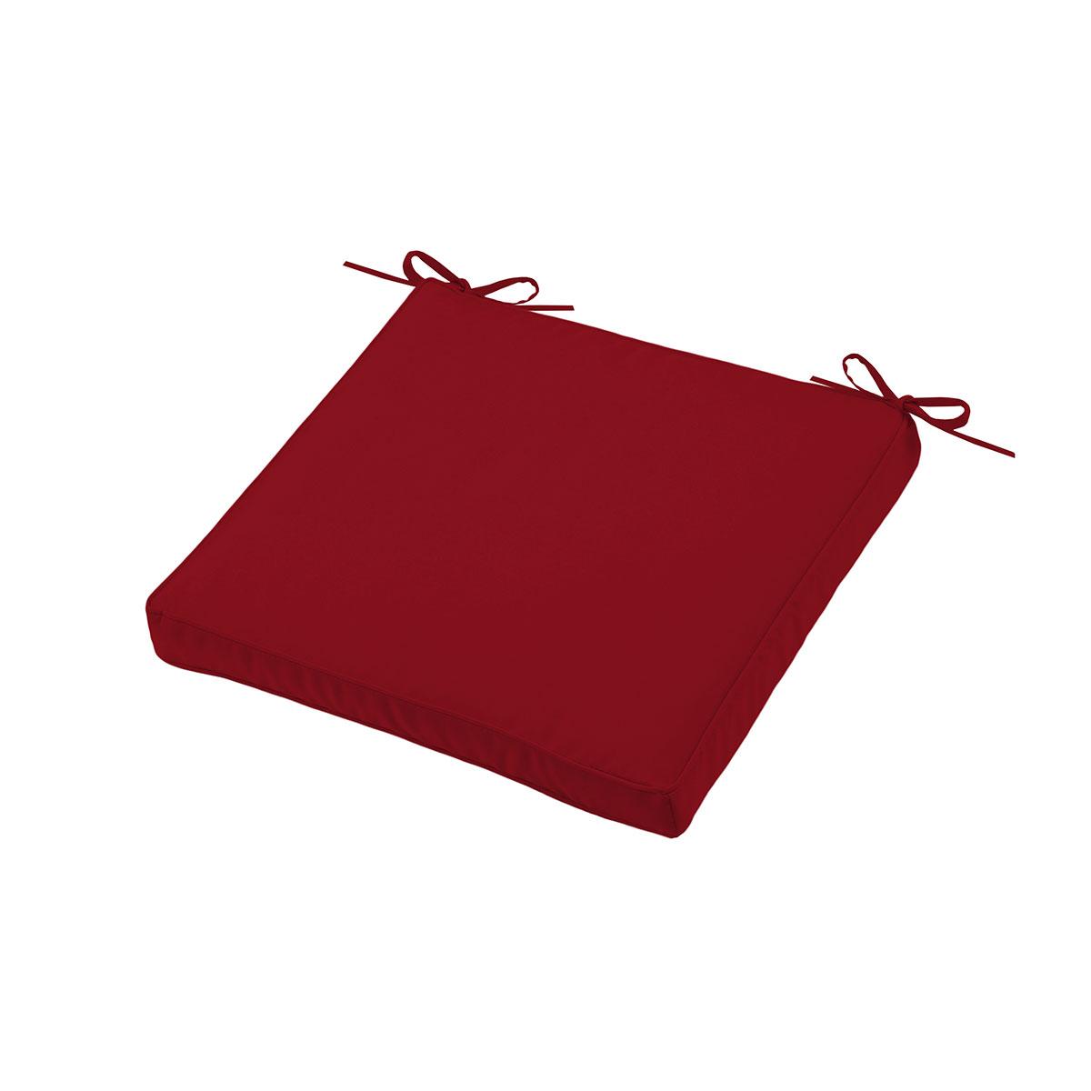 Almohadilla de silla outdoor colorida (Rojo)