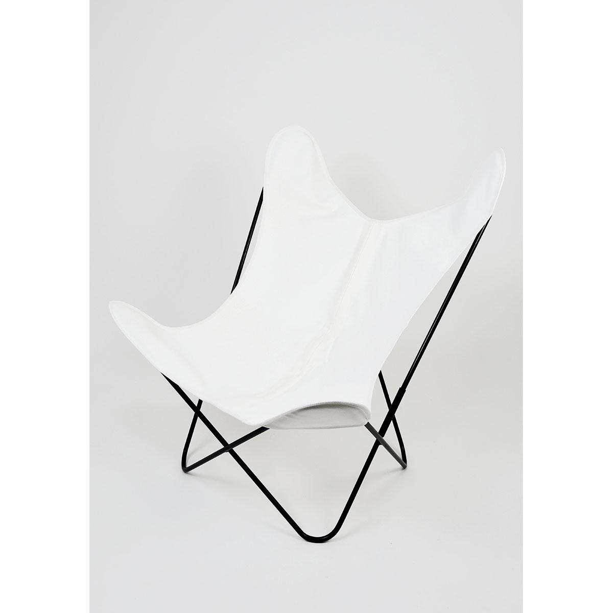 Fauteuil Papillon en coton coloré - Blanc