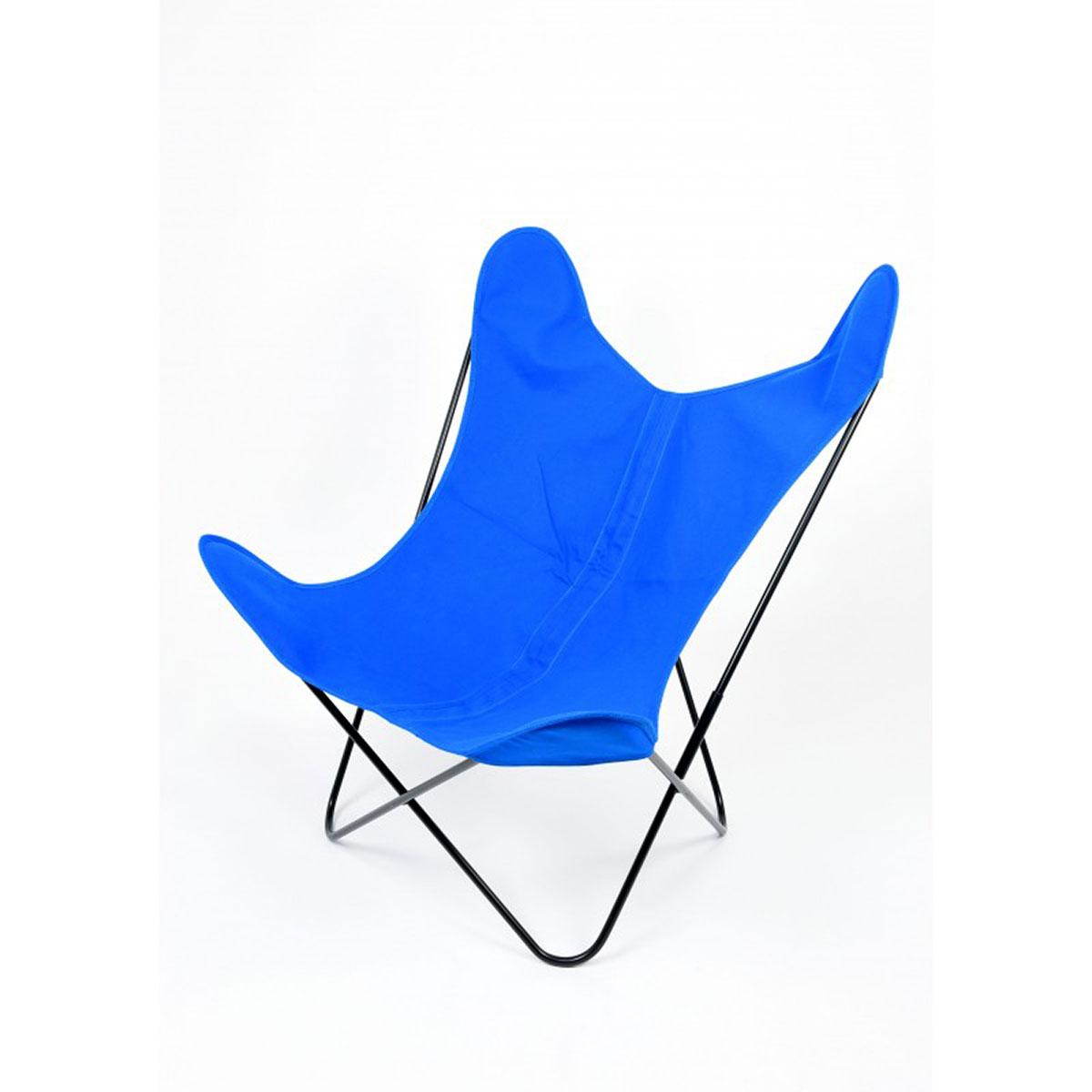 Fauteuil Papillon en coton coloré - Bleu