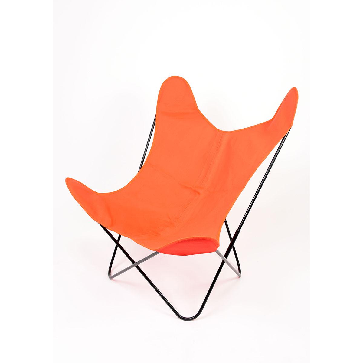Fauteuil Papillon en coton coloré - Orange