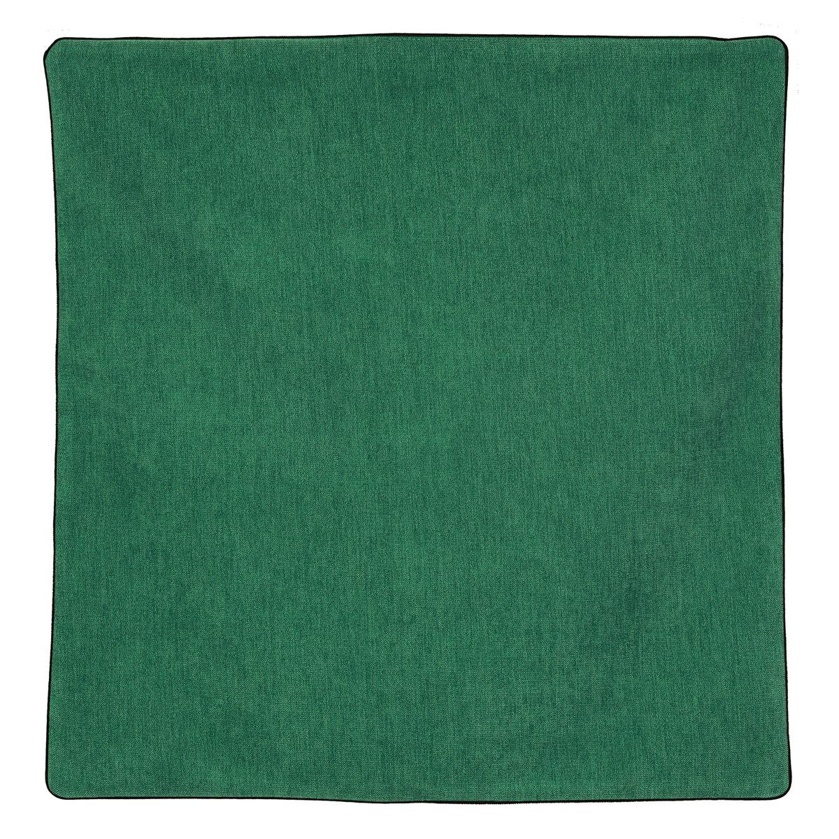 Housse de coussin passepoilée effet velours  (Vert Bleu)